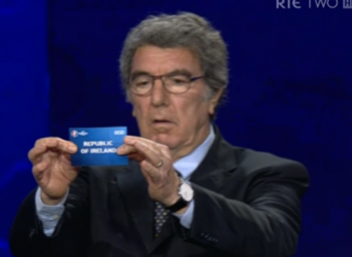 Ireland are picked during last Sunday's Euros draw.