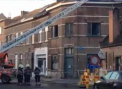 The scene of last week's fire.