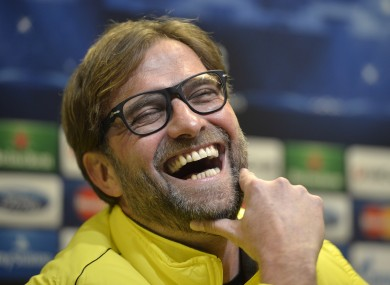 Jurgen Klopp: Dortmund are in Champions League action this week.