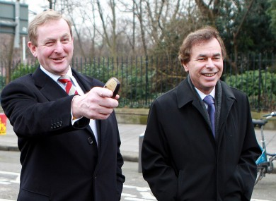 Enda Kenny and Alan Shatter arriving at Leinster House (File photo)