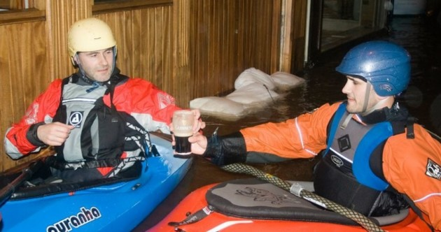 PHOTOS: Cork kayakers refuse to let floods dampen their night out