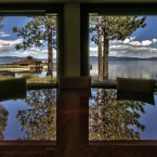 Mansouri was attracted to the regional skiing when she decided to make Lake Tahoe her primary home. This is the view from the kitchen table.<span class=