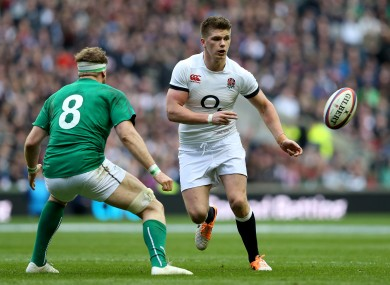 Farrell in action against Ireland during England's 13-10 victory.