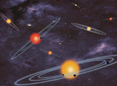 Artist conception of multiple-transiting planet systems.