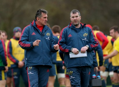 Rob Penney and Anthony Foley at Munster training.