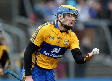 Seadna Morey starts for Clare this Sunday.