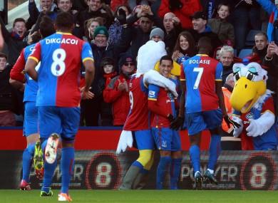 Crystal Palace's Thomas Ince celebrates his goal.