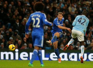 Ivanovic hits the opening goal.