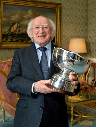 Michael D gets his hands on domestic football's newest prize – the President's Cup