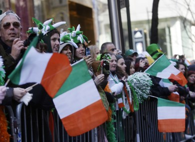 People at the St Patrick's Day parade in NYC