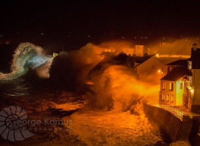 Storms battering the coast off Lahinch last month