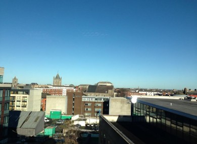 Blue skies...the view from TheJournal.ie HQ this morning.