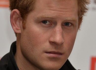 Prince Harry speaking at a press conference last month.