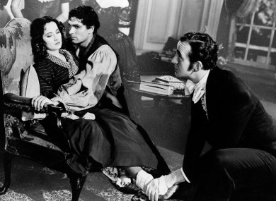 A scene from the film adaptation of Wuthering Heights