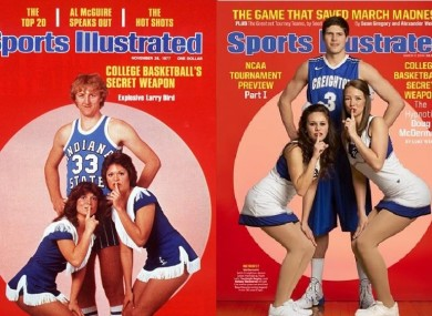 Sports Illustrated recreated an iconic Larry Bird cover this week ahead of March Madness.