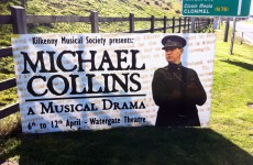 Seven life-sized roadside posters of Michael Collins stolen in Kilkenny