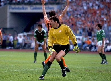 A dejected Packie Bonner in Euro 88.