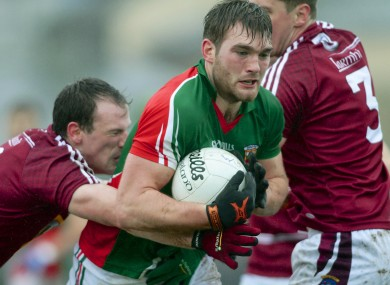 Mayo's Aidan O'Shea in action against Westmeath.