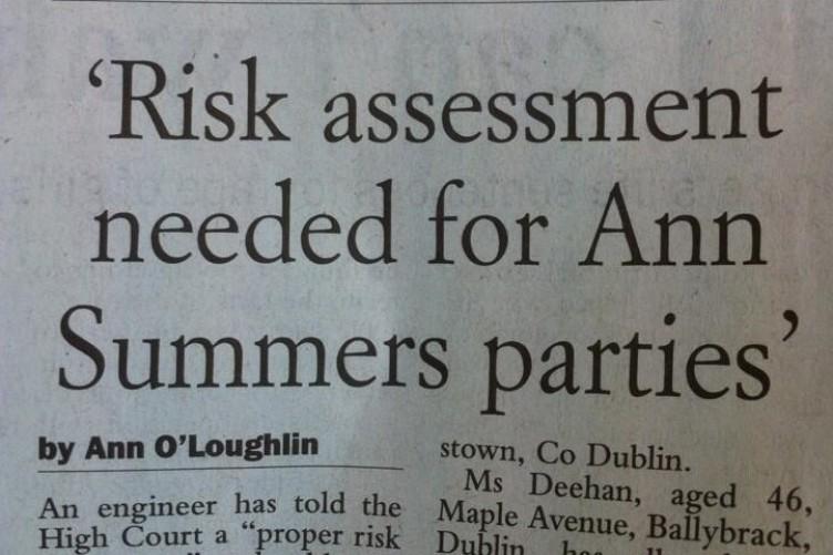Ann summers party dublin
