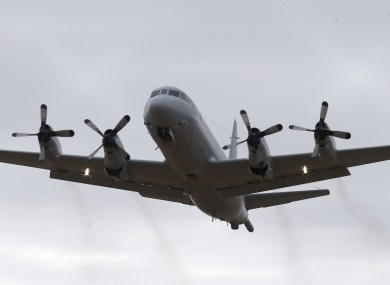 A Royal Australia Air Force AP-3C Orion takes off from RAAF Base Pearce in Perth.