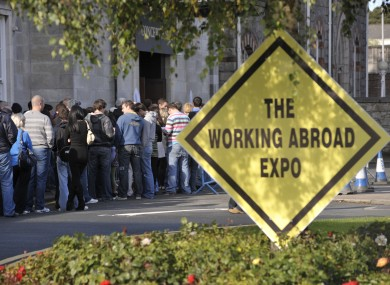 Queue at a recent Working Abroad Expo.
