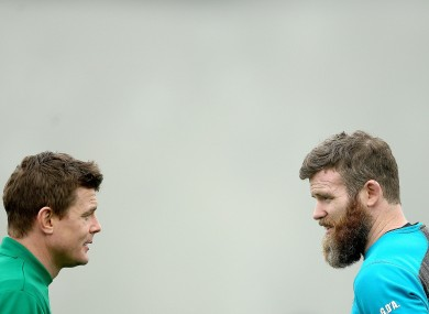 Brian O'Driscoll and Gordon D'Arcy will line out for the final time tomorrow in Paris.
