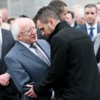 President Michael D Higgins speaks to Darragh. <span class=