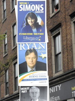 European election posters in 2009.