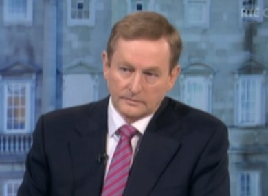 Enda Kenny on The Week in Politics today.