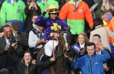Joy for Davy Russell and Jim Cullloty, as Lord Windermere takes Gold Cup after dramatic finish