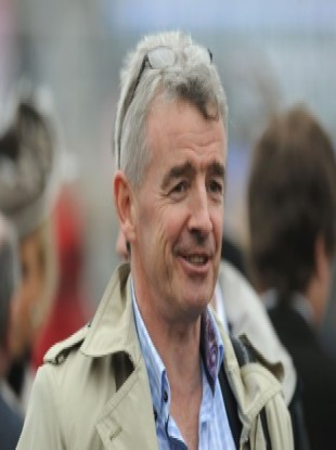 Chief executive of Ryanair Michael O'Leary at the Cheltenham Festival.