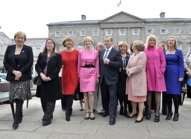 Taoiseach Enda Kenny celebrates International Women's day with female Senators and TD'S in