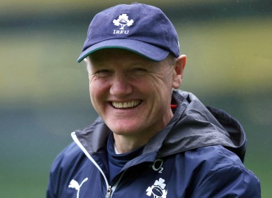 Joe Schmidt says Ireland's success has been player-driven.