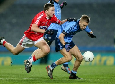 Cork's Mark Collins and Dublin's Johnny Cooper.