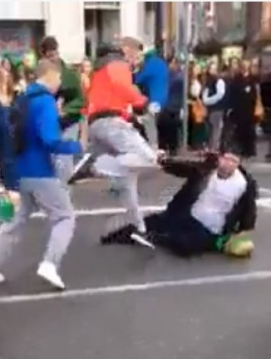 Gardaí have identified those involved in St Patrick's Day violence video