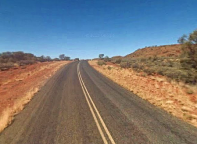 Namatjira Drive, 90 kilometres west of Alice Springs, where the crash happened.