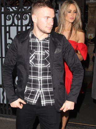 Tom Cleverley and girlfriend, Georgina Dorsett out and about in Manchester.