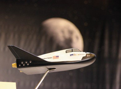 A model of NASA's planned Dream Chaser mini-shuttle. Projects at the hackathon will be a little bit more complex than this.