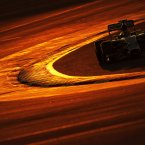 Lewis Hamilton at the Formula One Testing, Bahrain. <span class=