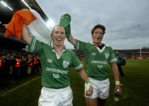 Peter Stringer and Ronan O'Gara 27/3/2004