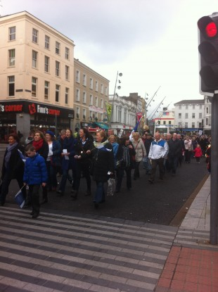 Some of the participants at the protest in Cork last Saturday.