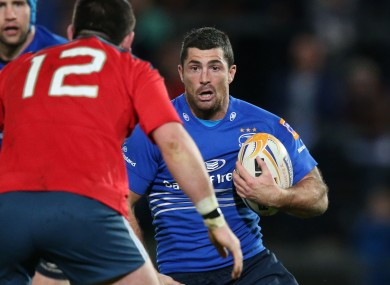 Rob Kearney will be hoping to drive Leinster to victory.