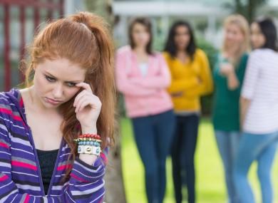 Girl being bullied.
