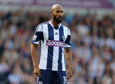 Nicolas Anelka has announced on his Twitter account that he is to leave West Brom with immediate effect.