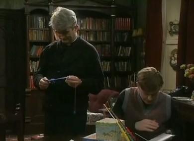 Dougal checks the diary.