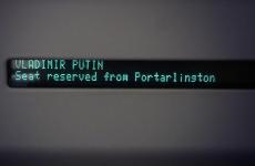 What is Vladimir Putin doing in Portarlington?