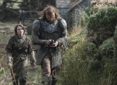 Arya and The Hound.