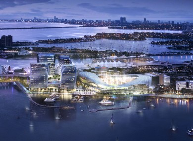 An artist's illustration of Beckham's proposed stadium.