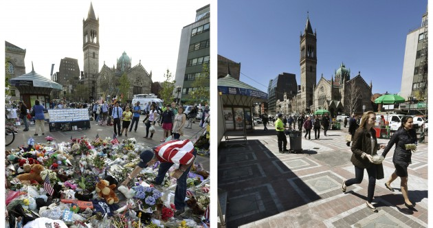 Pics: Before and after – Boston since the marathon bombings