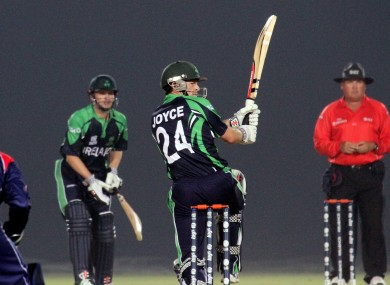 Ed Joyce is hoping to continue his recent good form against Sri Lanka.